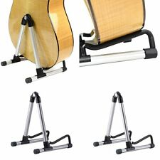 Folding Electric Acoustic Bass Guitar Stand A Frame Floor Rack Holder FEXD