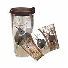 Tervis Tumbler- 16 oz. or 24 oz.Tumbler or Water Bottle-DEER WRAP W/Lid-New!