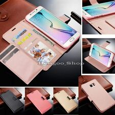 Luxury Magnetic Leather Cover Stand Wallet Flip Case For Samsung Galaxy Models