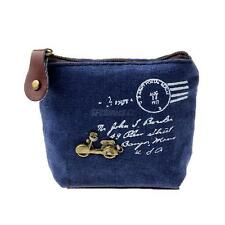Mini Women Ladies Canvas Purse Zip Wallet Card Coin Key Cosmetic Bag Pouch Case