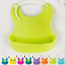 Aprons Baby Infant Waterproof Silicone Feeding Lunch Bibs Saliva Unisex Kids New