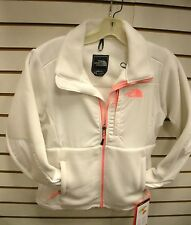 THE NORTH FACE WOMENS DENALI FLEECE JACKET- ANLP- LARGE - WHITE/ PINK - NEW