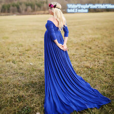 Chiffon Maternity Photography Props Women Pregnant Gown Solid Maxi Dress 5 Color