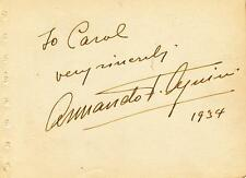 Armando- Vintage Signed Album Page from 1934
