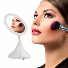 2-in-1 LED Makeup Mirror With Table Lamp for Bedroom Table Cosmetic Mirror HH#JK