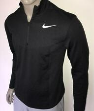 (010) 2017 SP Nike Dry Knit Men's Half-Zip Long Sleeve Golf Top $120 (Black)