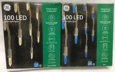 GE Energy Smart 100 LED icicle Constant On Lights Holiday Christmas Decoration
