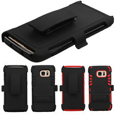Belt Clip Shell Swivel Holster Hybrid Rugged Cover Phone Protector Case Stand