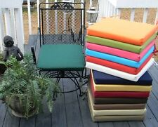 """17""""X17.5""""X2"""" FOAM OUTDOOR UNIVERSAL BISTRO CHAIR PAD CUSHION-CHOOSE SOLID COLORS"""