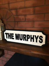 PERSONALISED FAMILY FRIENDS NAME HOUSE WOODEN PLAQUE LOVELY HOME BIRTHDAY GIFT