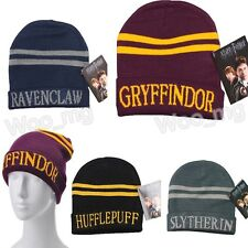 Harry Potter Gryffindor Stripes Knit Beanie Hat Cap Deathly Hallows Gift