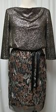 NWT Alex Evening Black and Gold Event Dress Retail $190