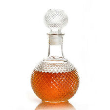 Clear Crystal Whiskey Wine Shot Glass Bottle with Cap  Bar Decanters Drinkware