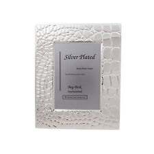 Bey-Berk Croco Silver Plated Picture Frame