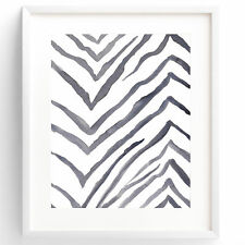 """Amber Michelle Fine Art Rock and Feather """"Zebra Print"""" by Amber Duke Painting"""