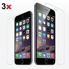 3x Scratch Resist Tempered Glass Screen Protector Film For iPhone 4 5 6 6S 7 7+