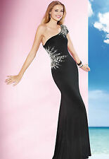 New Alyce Paris 35632 Black Silver Prom Pageant Evenining Formal Cocktail Dress