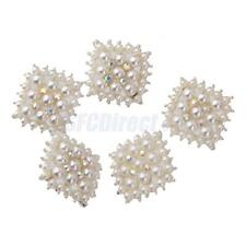 New Crystal Rhinestone Pearl Shank Buttons Flower Embellishment Sewing Craft