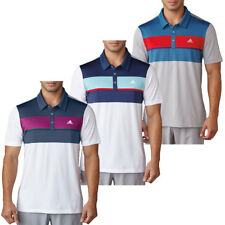 Adidas Golf 2017 Mens Climacool Chest Block Polo Shirt - 20% OFF RRP