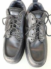 Mens Skechers lace up work shoes model F15  black size 10 usa good condition