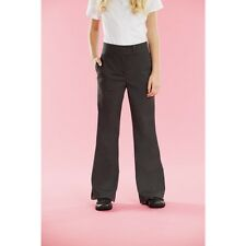 GIRLS GREY SCHOOL TROUSERS AGES 14,15 OR 16 WITH ADJUSTABLE WAIST  BNWT