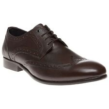 New Mens SOLE Brown Motley Leather Shoes Brogue Lace Up