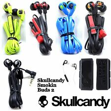 New Skullcandy SMOKIN BUDS 2 Supreme Sound Earphones w/Mic Blue Black Red White