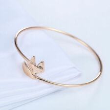 Silver or Gold Plated Fox Head Tail Bracelet Adjustable Bangle in Gift Bag/Box