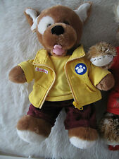 Build A Bear Dog + outfit + another bear and football outfit