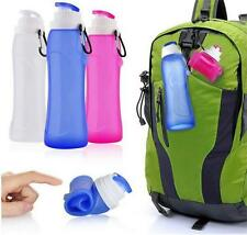 Portable Foldable 500ml Water Bottle Bag Cup Sport For Hiking Reusable