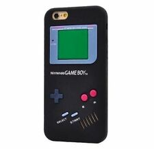 iPhone 6/6S/7/7+PLUS - SOFT SILICONE RUBBER SKIN CASE COVER BLACK GAMEBOY PLAYER