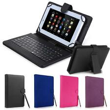"""Universal Micro USB Keyboard Kickstand PC Leather Box Case For Android 8"""" Tablet"""