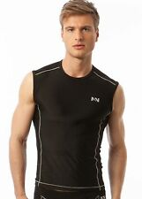 N2N Activewear Men's NWT Tritech Muscle Tank Muscle Top Navy Black Green