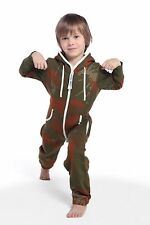 Unisex Nordic Way Kids Jumpsuit Romper One Piece Zip Fleece Hoodies Playsuit