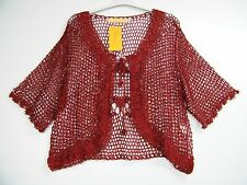 SPARKLY LACY SHRUG IN 6 COLOURS, SIZE 12 14 16 18 20 22