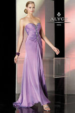 New ALYCE Paris BDazzle 35519 Orchid Purple Sweetheart Prom Formal Evening Dress