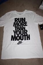 MEN'S NIKE RUN MORE THAN YOUR MOUTH T SHIRT NEW WITH TAGS 885049 100 L XL