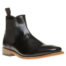 New Mens SOLE Black Tiptree Leather Boots Chelsea Elasticated Pull On