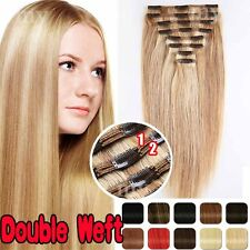 Mixcolor Straight Human Hair Clip In Remy Human Hair Extensions Full Head BS234