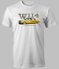 NEW T-SHIRT Mercedes-Benz W114 Stance Society Classic CUSTOM PRINT 100%COTTON