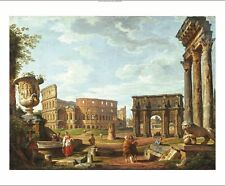 """GIOVANNI PAOLO PANNINI """"View Of Rome"""" PRINT ON CANVAS various SIZES, BRAND NEW"""