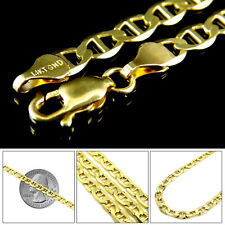 Mens Womens 14K Yellow Gold Mariner Link Chain Bracelet 3.1 MM, 7 - 8 Inches