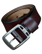 Men's Real Cowhide Leather Waist Belt Alloy Pin Buckle Designer Waistband