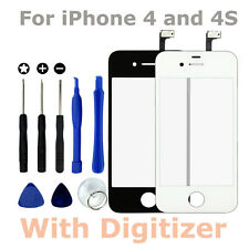 Front LCD Glass Pane & Touch Screen Digitiser & Tools for Apple iPhone 4S 4G 4