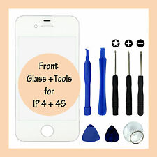 New Replacement Touch Panel Front Glass Screen Cover & Tools for Apple iPhone 4S