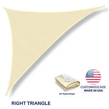 Custom Size Beige Right Triangle Sun Shade Sail Outdoor Canopy Awning Patio Pool
