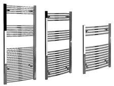 Kudox Curved Towel Rail Bathroom Radiator Chrome & White 22mm Various Sizes
