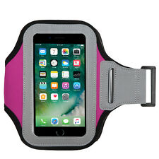 Pink Color Soft Sport Gym Running Armband Cover Jogging Holder Case