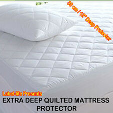 QUILTED MATTRESS PROTECTOR & WATERPROOF TERRY TOWEL MATTRESS PROTECTOR | White
