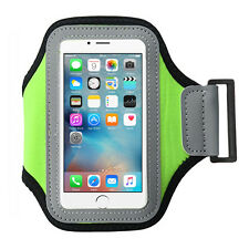 Light Green Soft Sports Gym Running Armband Cover Jogging Arm Hiking Holder Case